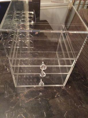 07837b11c268 3 Drawers Makeup Cosmetics Organizer Clear Acrylic Display Box ...